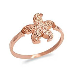 Rose Gold Dainty Starfish Ring