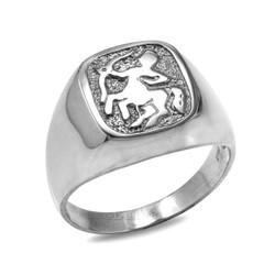 Sterling Silver Sagittarius Mens Zodiac Ring