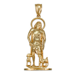Gold St. Lazarus of Bethany Statuette Pendant