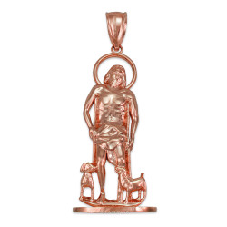 Rose Gold St. Lazarus of Bethany Statuette Pendant