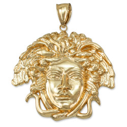 Polished Gold Medusa Pendant (S/M/L)