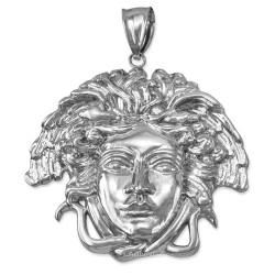 White Gold Medusa Pendant (S/M/L)