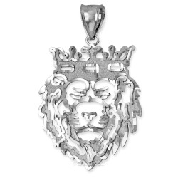 White Gold Lion King DC Pendant (S/L)