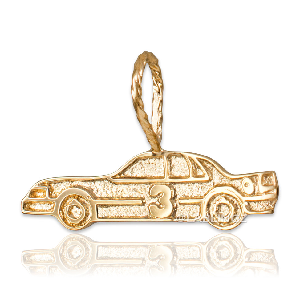 Sports Charms 10k Yellow Gold Polo Horse and Rider Pendant