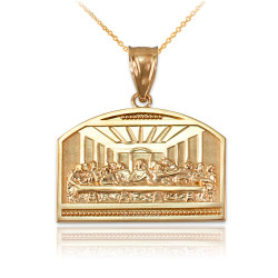 Yellow Gold Last Supper Pendant Necklace