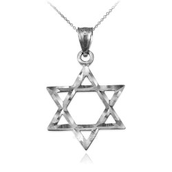 Sterling Silver Jewish Star of David DC Charm Necklace