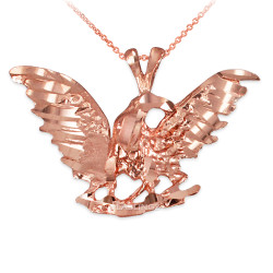 Rose Gold Raven DC Pendant Necklace