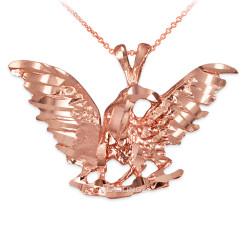 Rose Gold Raven DC Pendant Necklace
