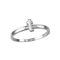 Sterling Silver Initial Letter T Stackable Ring