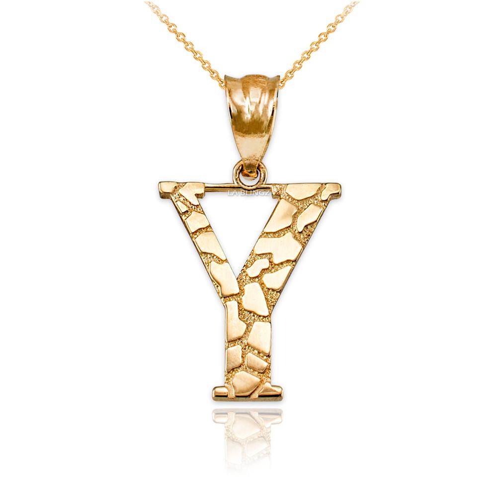 LA BLINGZ 10K Rose Gold Filigree Alphabet Initial Letter L DC Pendant Necklace