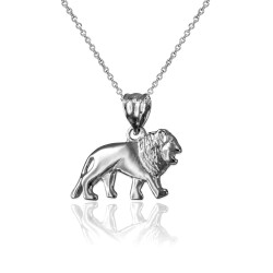 Sterling Silver Tiny Lion Charm Necklace