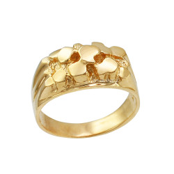 Yellow Gold Midsize Nugget Ring