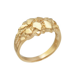 Yellow Gold Elegant Nugget Ring
