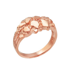 Rose Gold Elegant Nugget Ring