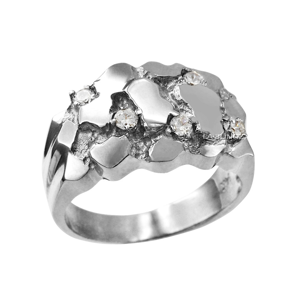 Top 10 Jewelry Gift Sterling Silver Mens Nugget Ring