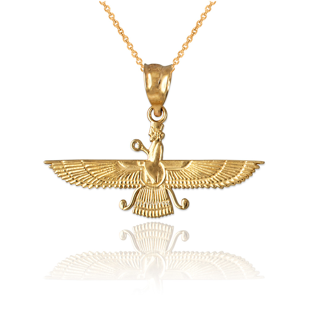 Details about  /10K Yellow Gold Farvahar Womens Pendant Necklace