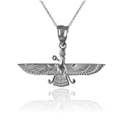 White Gold Farvahar Womens Pendant Necklace