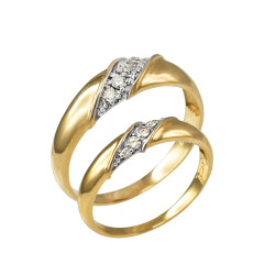 Diamond Wedding Band Set