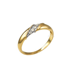 4MM Womens Diamond Wedding Band in Yellow Gold