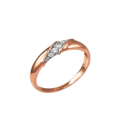 4MM Womens Diamond Wedding Band in Rose Gold