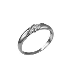 4MM Womens Diamond Wedding Band in Sterling Silver
