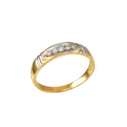 4.5MM Womens Diamond Wedding Band in Yellow Gold