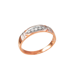 4.5MM Womens Diamond Wedding Band in Rose Gold