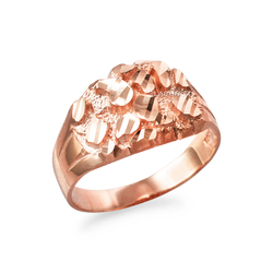 Rose Gold Midsize Sparkle Cut Nugget Ring