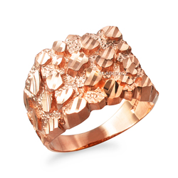 Rose Gold Mens DC Nugget Ring