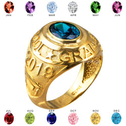 2019 High School Class Graduation CZ Birthstone Ring