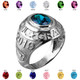 2019 High School Class Graduation Birthstone CZ Ring