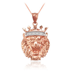 Rose Gold Lion King Charm Necklace