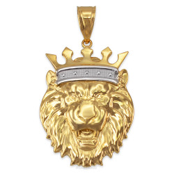Yellow Gold Lion King Pendant (S/M/L/XL)