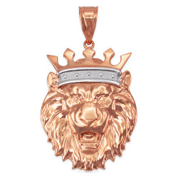 Rose Gold Lion King Pendant (S/M/L/XL)
