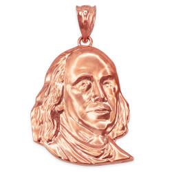 Rose Gold Benjamin Franklin Pendant (S/M/L)