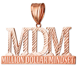 MDM Million Dollar Mindset Rose Gold DC Pendant