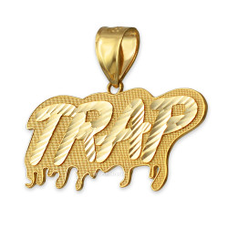 Yellow Gold TRAP Dripping DC Pendant