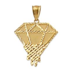 Yellow Gold Diamond Dripping DC Pendant