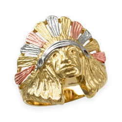 Gold Indian Chef Ring
