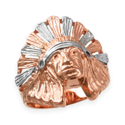 Rose Gold Indian Chief Ring