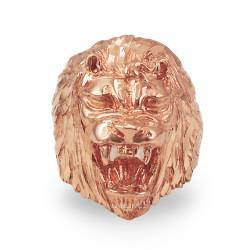 Roaring Lion Men's DC Ring in Rose Gold