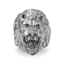 Roaring Lion Men's DC Ring in Sterling Silver