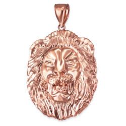 Rose Gold Lion Face DC Pendant (S/M/L)