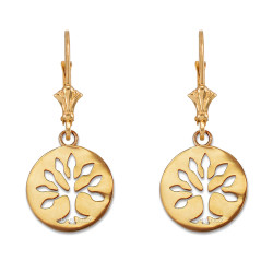 Gold Tree of Life Earrings set.