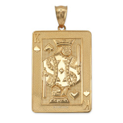 Gold King of Spades Pendant