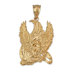 Yellow Gold High Polished Eagle Pendant