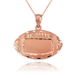 Satin DC Rose Gold Football Pendant Necklace