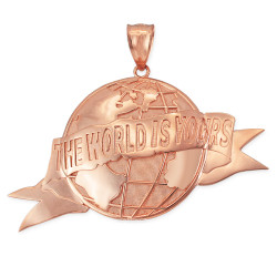 THE WORLD IS YOURS Rose Gold Pendant