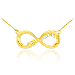 14K Gold 'BEST FRIENDS' Infinity Necklace