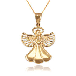 Gold Angel Pendant